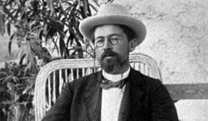 Anton Chekhov, politely refraining from use of a mobile device